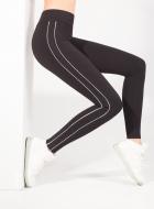 Леггинсы спортивные LEGS L1063 LEGGINGS SPORT WHITE STRIPS
