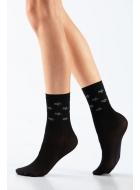 Носки женские с люрексом LEGS L1830 CALZINO STELLE LUREX