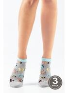 Носки женские хлопковые LEGS 104 SOCKS LOW 104 (3пари)