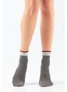 Носки женские с люрексом LEGS L1831 CALZINO ROMBI LUREX