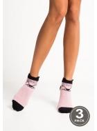 Носки женские хлопковые LEGS 86 SOCKS LOW 86 (3пари)