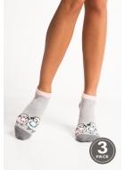 Носки женские хлопковые LEGS 87 SOCKS LOW 87 (3пари)