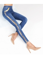 Джеггінси LEGS L1348 LEGGINGS DENIM STRIPES
