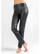 Легінси LEGS L1456 LEGGINGS LEATHER ZIP