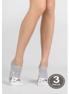 Шкарпетки жіночі бавовняні LEGS 76 SOCKS EXTRA LOW 76 (3пари)