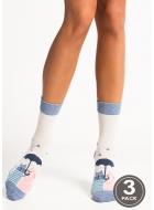 Шкарпетки жіночі бавовняні LEGS 93 SOCKS 93 (3пари)